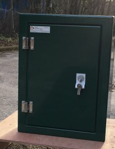 single door GRP enclosure