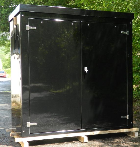 Double door GRP enclosure